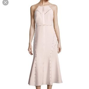 Baby pink midi dress w buttons cinq a sept